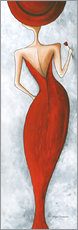 Wall sticker  Lady in red - Megan Duncanson