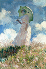 Gallery print  Woman with parasol turned to the left - Claude Monet