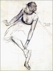 Gallery print  Dancer adjusting her shoe - Edgar Degas