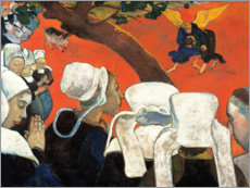 Wood print  Vision After the Sermon - Paul Gauguin
