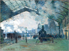 Gallery print  Saint Lazare Train Station: the train from Normandy - Claude Monet