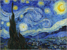 Wood print  Starry night - Vincent van Gogh