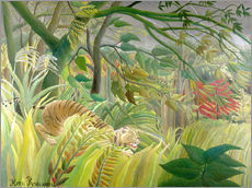 Wall sticker  Tiger in a tropical storm - Henri Rousseau