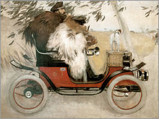 Wall sticker  Casas and Romeu in an automobile - Ramon Casas i Carbo