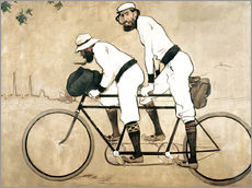 Gallery print  Casas and Romeu on a tandem - Ramon Casas i Carbo