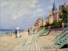 Gallery print  The beach at Trouville - Claude Monet