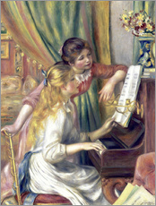 Wall Stickers  Two girls at the piano - Pierre-Auguste Renoir