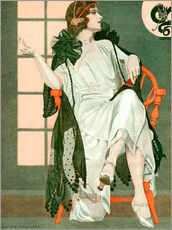 Gallery print  Lady writing - Clarence Coles Phillips