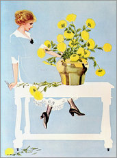 Wall sticker  Housekeeper with bouquet - Clarence Coles Phillips