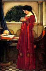 Wall sticker  The crystal ball - John William Waterhouse