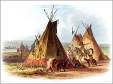 Wall sticker  Camp of Native Americans - Karl Bodmer