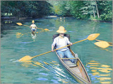 Gallery print  Skiffs on the Yerres - Gustave Caillebotte