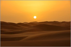 Wall sticker  Sunset in the Erg Chebbi desert - HADYPHOTO