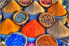 Wall sticker  Colorful oriental spices on the bazaar in Marrakech - HADYPHOTO by Hady Khandani