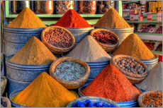 Gallery print  Oriental spices on the bazaar in Marrakech - HADYPHOTO
