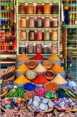 Wall sticker  Spices on a bazaar in Marrakech - HADYPHOTO by Hady Khandani