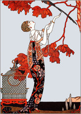 Wall sticker  The flighty bird - Georges Barbier