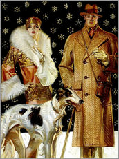 Gallery print  Couple with Greyhound - Joseph Christian Leyendecker