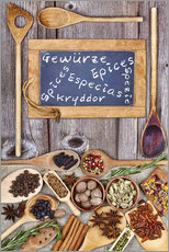 Wall sticker  Spices in different languages - Thomas Klee