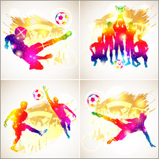 Gallery print  Soccer Silhouette - TAlex