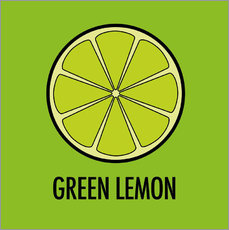 Gallery print  Green Lemon Juice - JASMIN!
