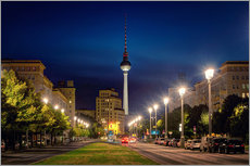 Gallery print  Karl Marx Avenue in the Night - Marcus Klepper