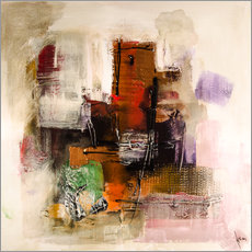 Gallery print  Abstract painting on canvas - modern and contemporary - Michael artefacti