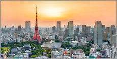 Gallery print  Tokyo skyline at sunset - Jan Christopher Becke
