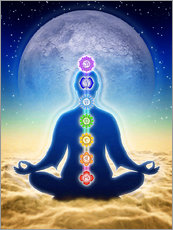 Wall sticker  In Meditation With Chakras - Blue Moon Edition - Dirk Czarnota