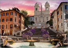 Gallery Print  Piazza Di Spagna with the Spanish Steps - Dominic Davison