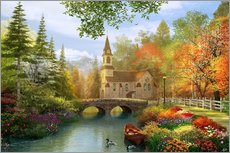 Gallery print  The secluded church in autumn - Dominic Davison