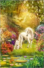 Gallery Print  Unicorns in the garden - Jan Patrik Krasny
