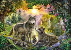Wall sticker  Autumn Wolf Family - Jan Patrik Krasny