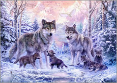 Gallery print  Winter wolf family - Jan Patrik Krasny