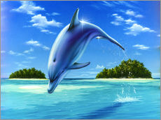 Wall sticker  Mid-day dolphin - Robin Koni