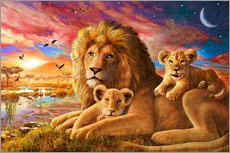 Wall sticker  Lion Sunrise - Adrian Chesterman