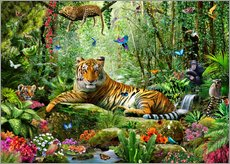 Wall sticker  Tiger in the jungle - Adrian Chesterman
