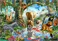 Wall sticker  The paradise of animals - Adrian Chesterman