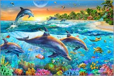 Wall sticker  Dolphin bay - Adrian Chesterman