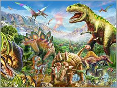 Wall sticker  Group of Dinosaurs - Adrian Chesterman