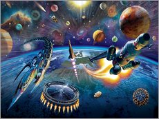 Wall sticker  Outer Space - Adrian Chesterman
