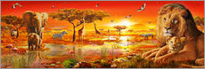 Wall sticker  Savanna Sundown - Adrian Chesterman