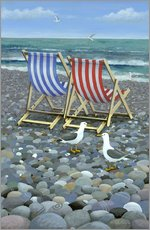 Wall sticker  Deck Chairs - Peter Adderley