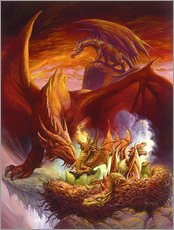 Wall sticker  Children of the Dragon - Jeff Easley
