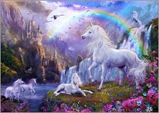Gallery print  Mystic unicorn castle - Jan Patrik Krasny
