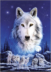Wall sticker  Night of the wolves - Robin Koni