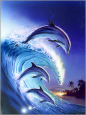 Wall sticker  Riding the wave - Robin Koni