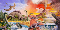 Wall sticker  Volcanic eruption in prehistoric times - Paul Simmons