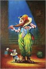 Gallery print  Clown and dog - Petar Meseldzija
