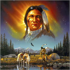 Gallery print  Chief eagle feather - Chris Hiett